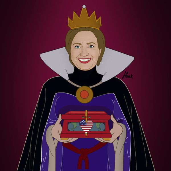 Global Politicians As Disney Villains by Saint Hoax Hillary Clinton