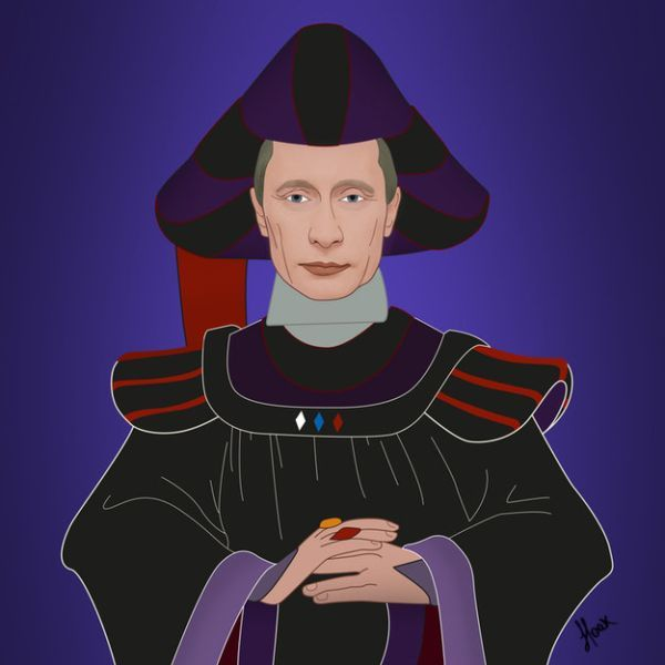 Global Politicians As Disney Villains by Saint Hoax Vladimir Putin