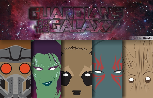 Guardians of Galaxy Marvel Heroes by Alejandro Rojas All