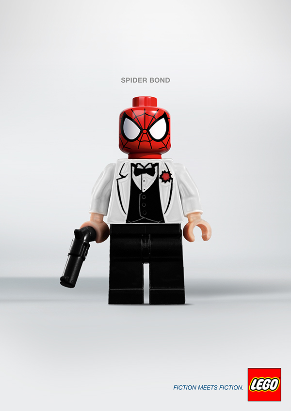 LEGO Fiction meets Fiction by Alexandre Tissier Spider Bond