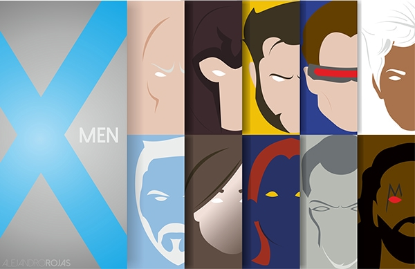 X-Men Marvel Heroes by Alejandro Rojas all