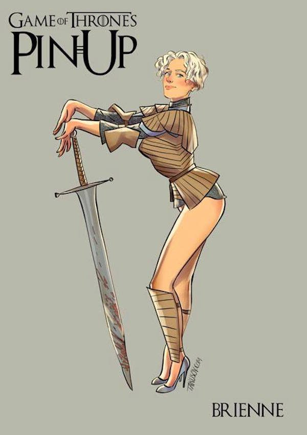 Game-of-Thrones-Pin-Ups-Brienne-Andrew-Tarusov