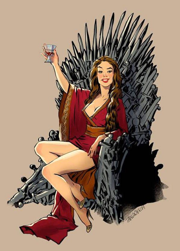 Game-of-Thrones-Pin-Ups-Cersei-Andrew-Tarusov