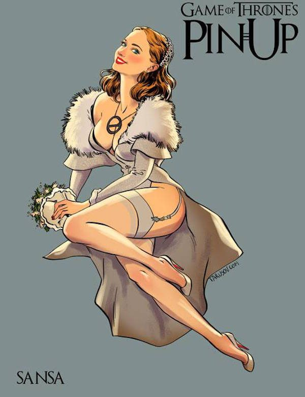 Game-of-Thrones-Pin-Ups-Sansa-Andrew-Tarusov