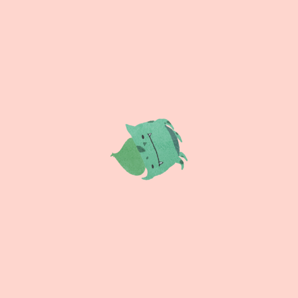 Childish Pokemons by Karolin Gu Bulbasaur