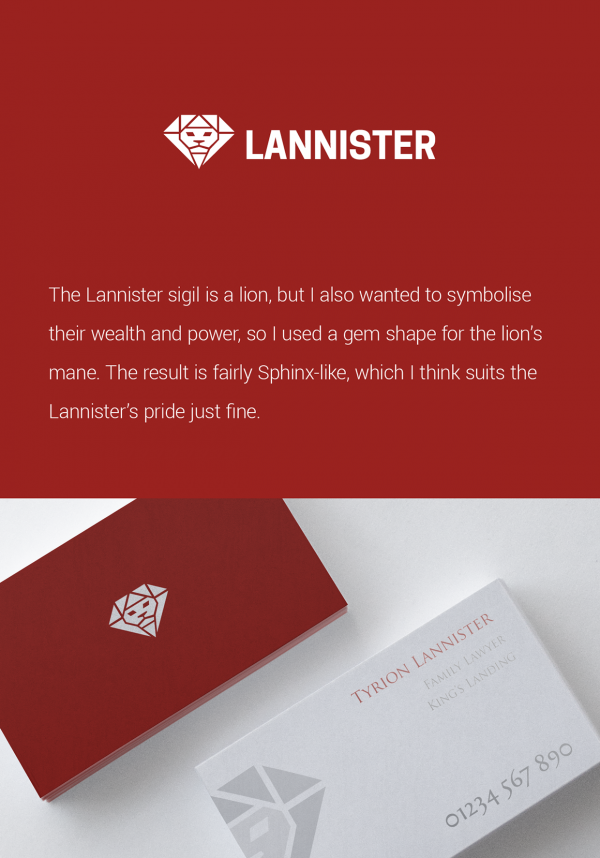 Game of Thrones Modern Logos by Ed Wain Lannister