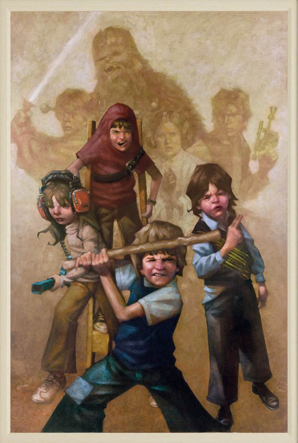 Kids Playing Star Wars by Craig Davison 01