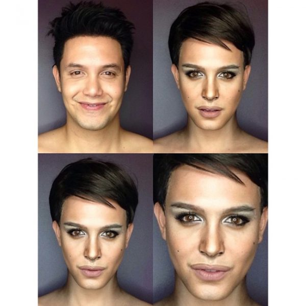 Makeup Transforms Into Various Female Celebrities by Paolo Ballesteros 03