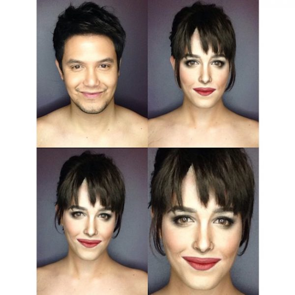 Makeup Transforms Into Various Female Celebrities by Paolo Ballesteros 05