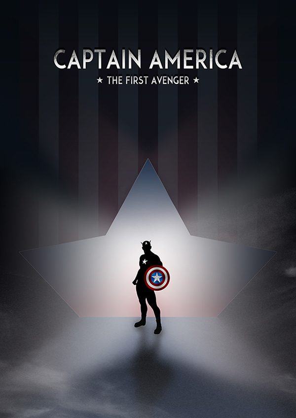 Marvel Hero Silhouette by Jason Stanley Captain America