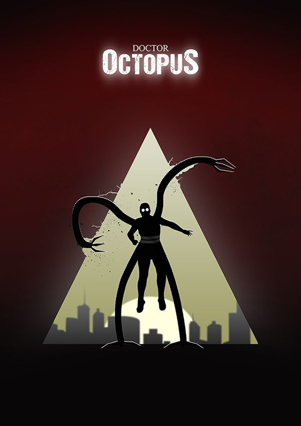 Marvel Hero Silhouette by Jason Stanley Doctor Octopus