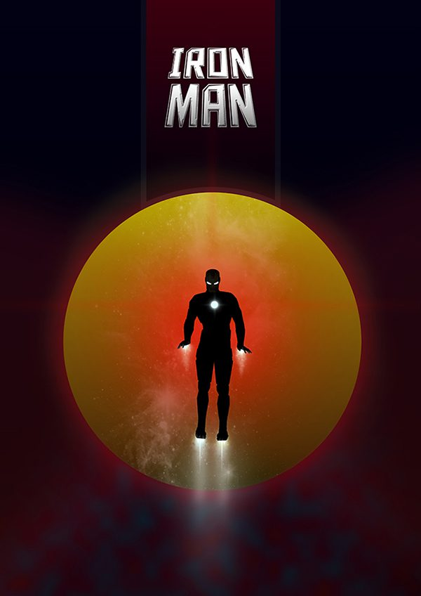 Marvel Hero Silhouette by Jason Stanley Iron Man