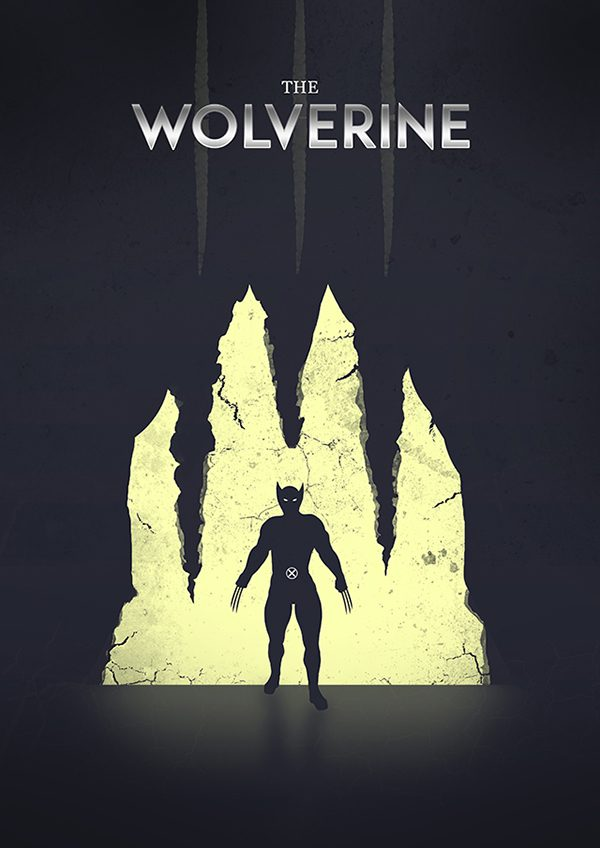 Marvel Hero Silhouette by Jason Stanley Wolverine