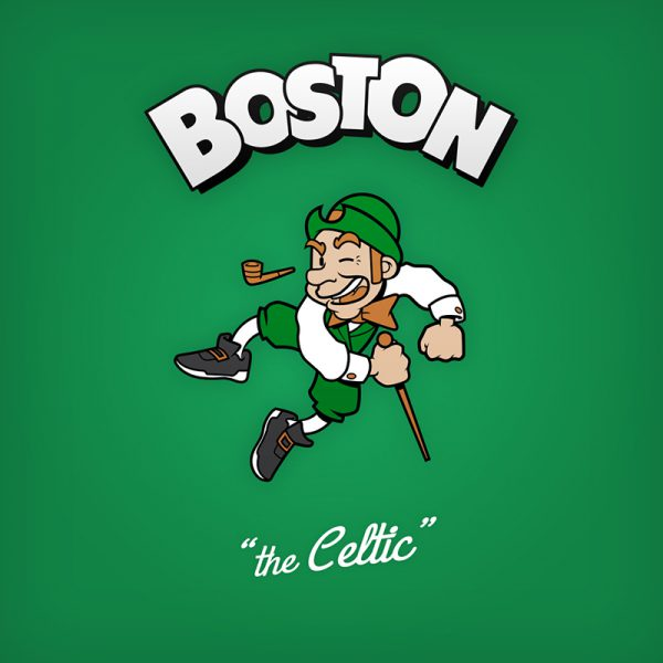 NBA Logos Cartoon Character by Baboon Creation the Celtic