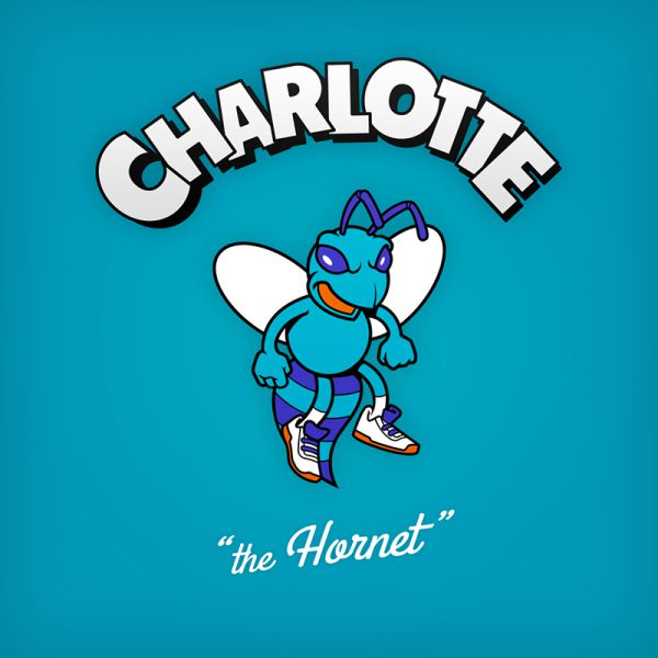 NBA Logos Cartoon Character by Baboon Creation the Hornet