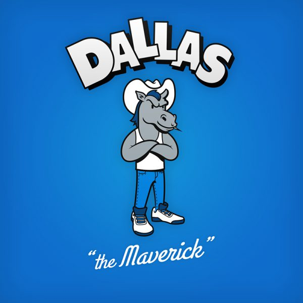 NBA Logos Cartoon Character by Baboon Creation the Maverick