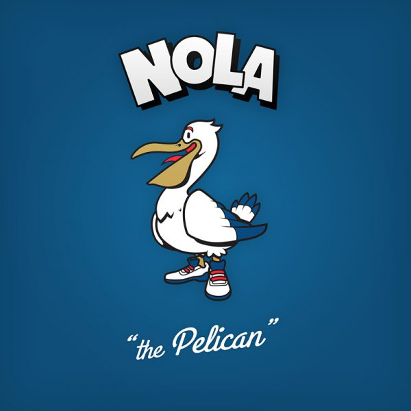 NBA Logos Cartoon Character by Baboon Creation the Pelican