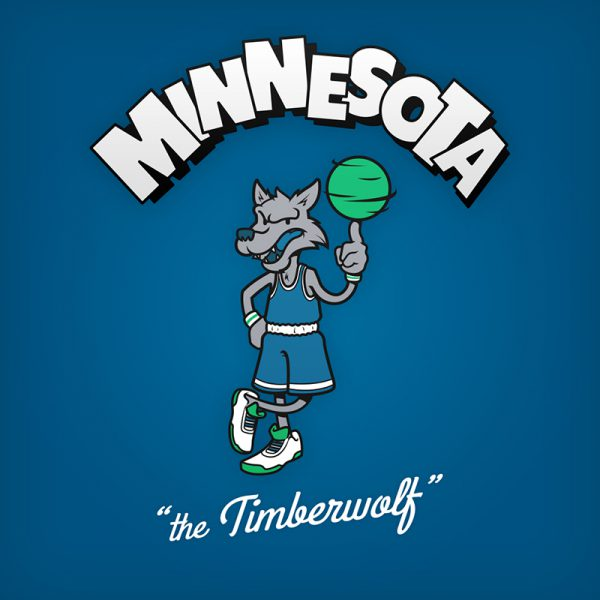NBA Logos Cartoon Character by Baboon Creation the Timberwolf