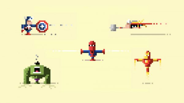 Pixelated Art by James Boorman Avengers