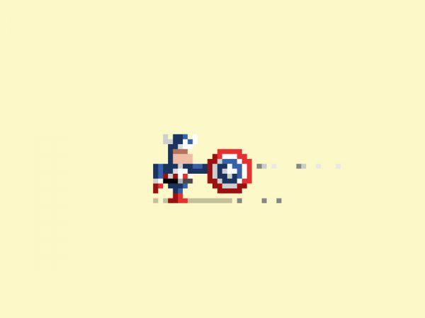 Pixelated Art by James Boorman Captain America