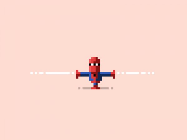 Pixelated Art by James Boorman Spiderman