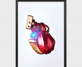 Superhero Digital Hearts by Ratheesh R Iron Man