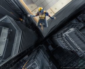 Superheroes on Skyscrapers by Benjamin Von Wong Wolverine