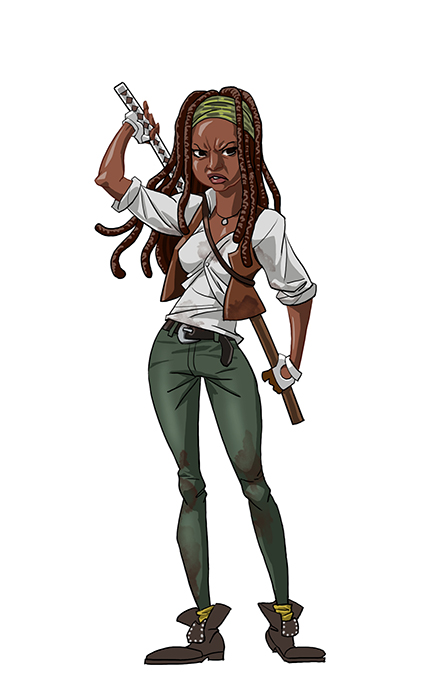 Walking Dead Cartoon by Edward Pun Michonne