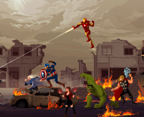 Cult Movies Pixel Art by Gustavo Viselner Avengers