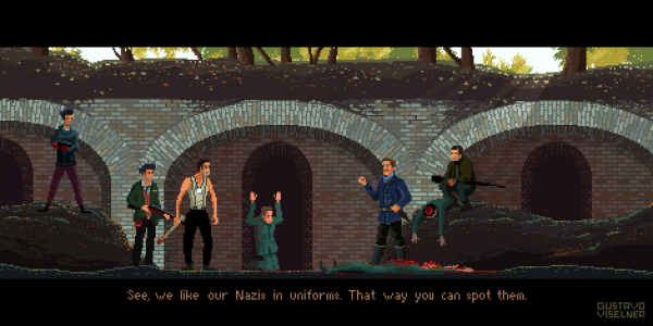 Cult Movies Pixel Art by Gustavo Viselner Inglorious Basterds