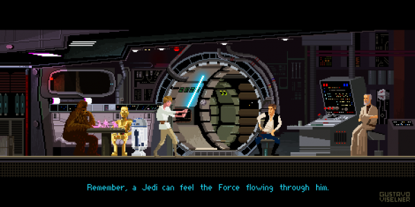 Cult Movies Pixel Art by Gustavo Viselner Star Wars