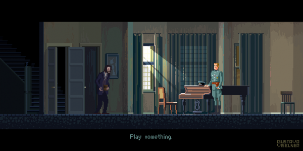 Cult Movies Pixel Art by Gustavo Viselner The Pianist