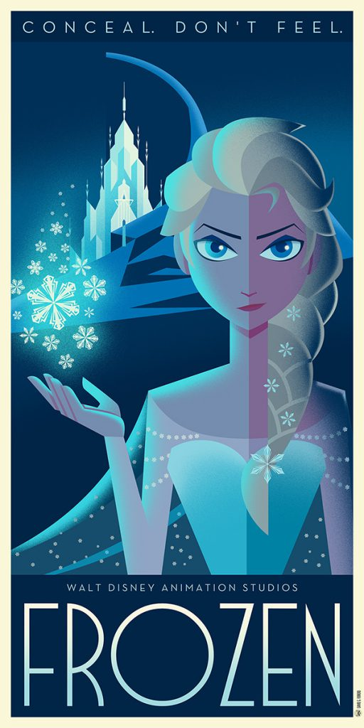 Disney Art Poster by David G. Ferrero Frozen