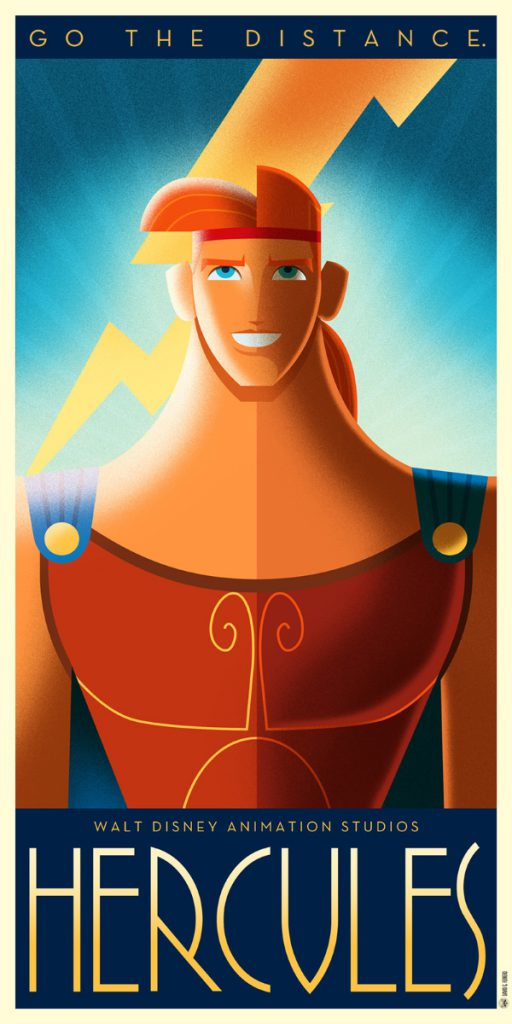 Disney Art Poster by David G. Ferrero Hecules