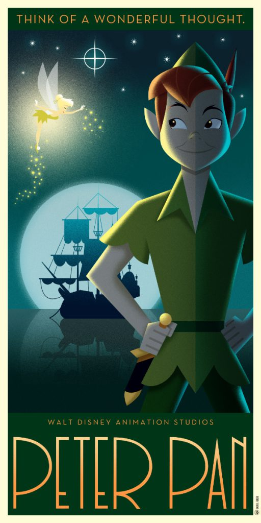 Disney Art Poster by David G. Ferrero Peter Pan