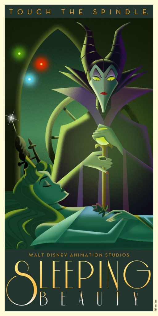 Disney Art Poster by David G. Ferrero Slepping Beauty