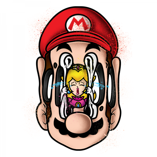 Deconstructing Characters by Enisaurus Super mario