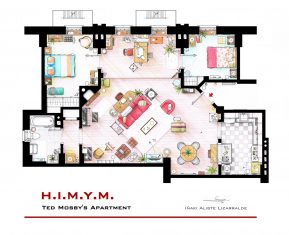 Floor Plans of Popular TV and Film Homes by Iñaki Aliste Lizarralde HIMYM Ted