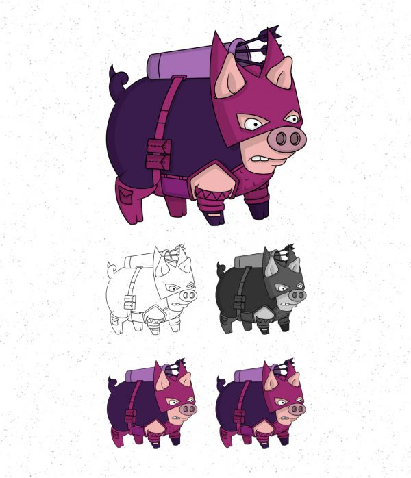 Avengers Pigs by Roni Aguiar Hawkeye