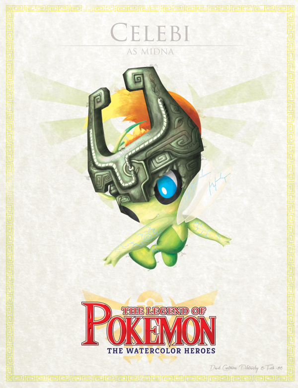 Pokemon Zelda Mashup by David Pilatowsky Celebi