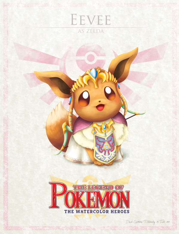 Pokemon Zelda Mashup by David Pilatowsky Eevee