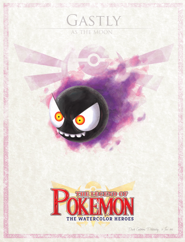 Pokemon Zelda Mashup by David Pilatowsky Gastly