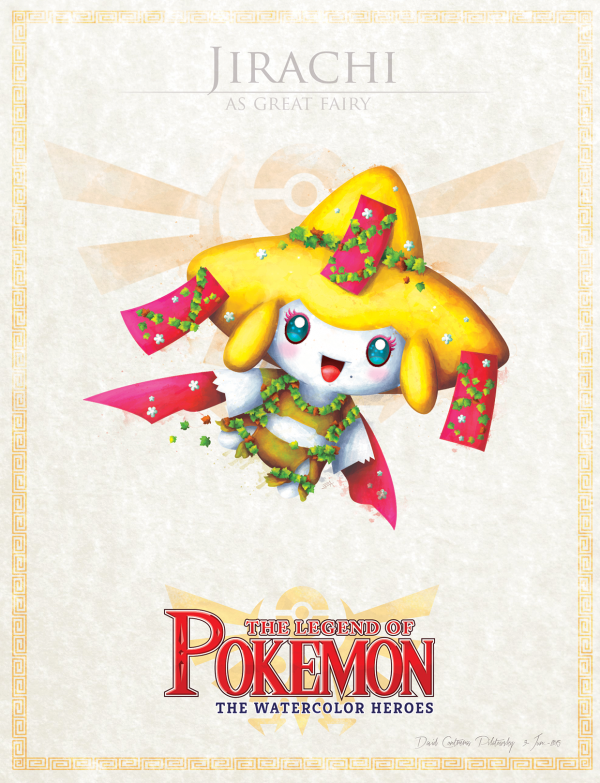 Pokemon Zelda Mashup by David Pilatowsky Jirachi