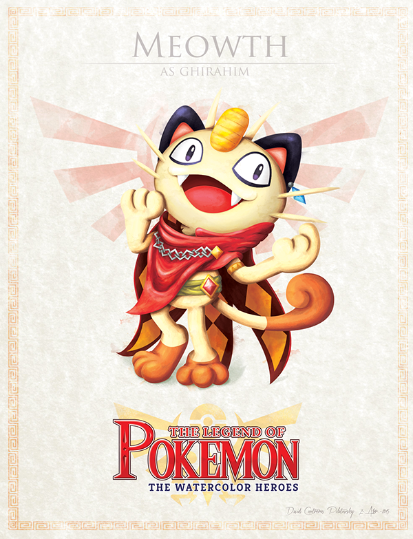 Pokemon Zelda Mashup by David Pilatowsky Meowth