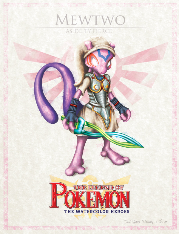 Pokemon Zelda Mashup by David Pilatowsky Mewtwo
