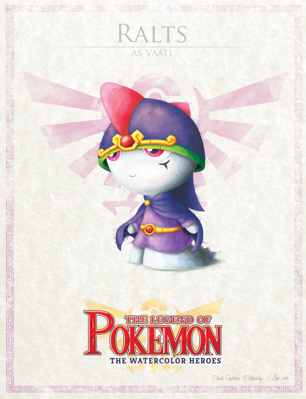 Pokemon Zelda Mashup by David Pilatowsky Ralts