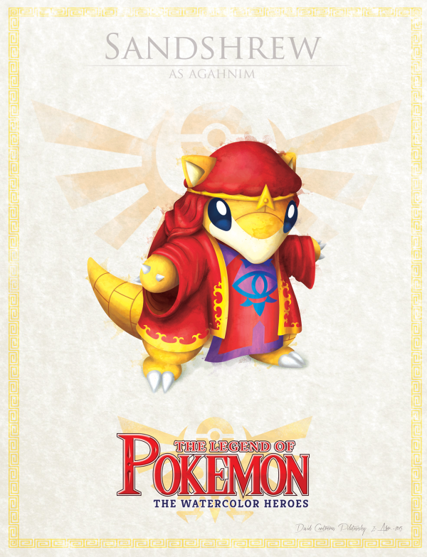 Pokemon Zelda Mashup by David Pilatowsky Sandshrew