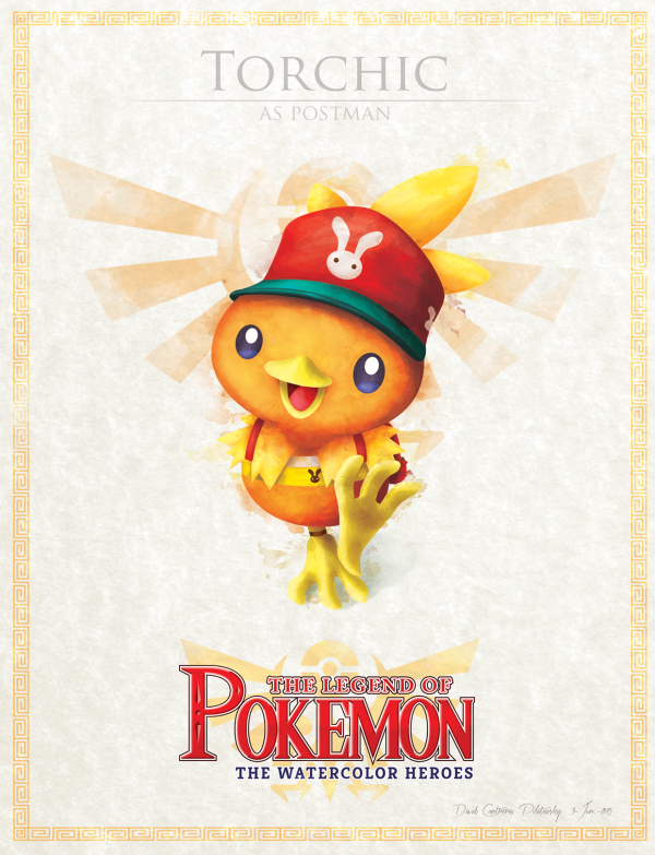 Pokemon Zelda Mashup by David Pilatowsky Torchic