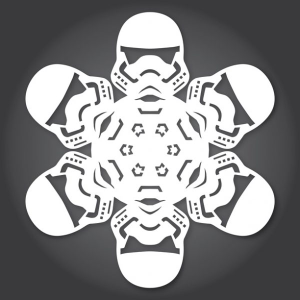 Star Wars SnowFlakes by Anthony Herrera First Order