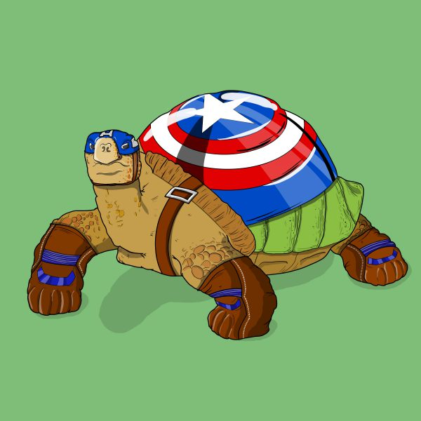 Animals like Superheroes by Suraj Sirohi captain turtle